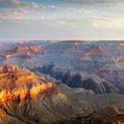 First Light Over Grand Canyon, Arizona, Usa Poster