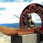 First Nation Sculpture Poster