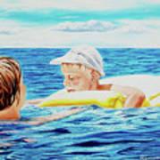 First Swimming - Nadar Primero Poster