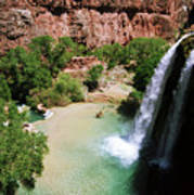 First View Of Havasu Falls Poster