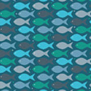 Fish Blue  Poster