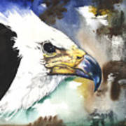 Fish Eagle II Poster by Anthony Burks Sr