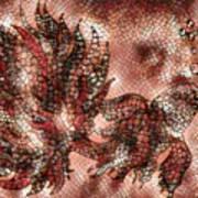 Fish In Cinnamon Mosaic 1 Poster