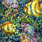 Fish Tales Iv Poster by Ann  Nicholson