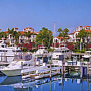 Fisher Island Miami Private Marina Poster