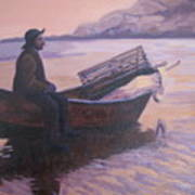 Fisherman At Good Harbor Beach Gloucester Circa 1880 Poster