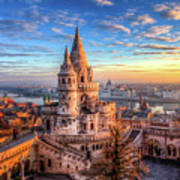 Fisherman's Bastion in Budapest Poster