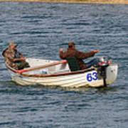 Fishermen In A Boat Poster
