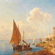 Fishermen On The Dalmatian Coast Poster