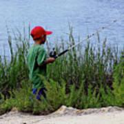 Fishing At Hickory Mound Poster