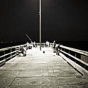 Fishing At Night Poster