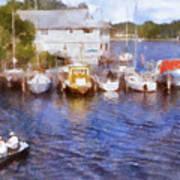 Fishing At The Marina Poster
