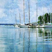 Fishing Bay Reflections Poster