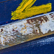 Fishing Boat Abstract Poster