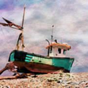 Fishing Boat At Aldeburgh Poster