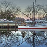 Fishing Boat At Newburyport Poster