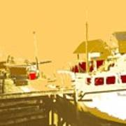 Fishing Boat At The Dock Poster
