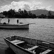Fishing Boats In Mahebourg  Poster