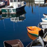 Fishing Boats, Rockport, Ma Poster