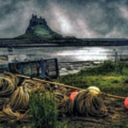 Fishing Gear At Lindisfarne. Poster