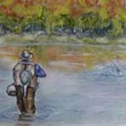 Fishing In Natures Beauty Poster