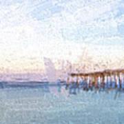 Fishing In Venice, Florida II Poster
