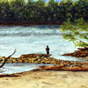 Fishing On The Missouri River Poster