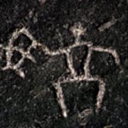 Fishing Petroglyph Poster