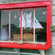 Fishing Shack Window 5998 Poster