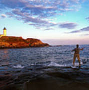 Fishing The Nubble Poster