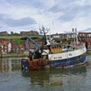 Fishing Trawler Wy 485 At Whitby Poster by Rod Johnson