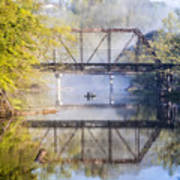 Fishing Under The Trestle Poster