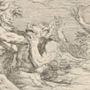 Five Battling Tritons Poster