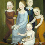 Five Children Of The Budd Family Poster