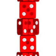 Five Dice Stack Poster by Richard Thomas