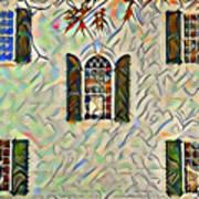 Five Windows Watercolor Poster