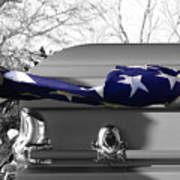 Flag For The Fallen - Selective Color Poster