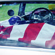 Flag In The  1955 Chevy Bel Air Poster