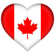 Flag Of Canada Heart Poster