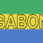 Flag Of Gabon Word. Poster