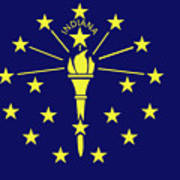 Flag Of Indiana Poster