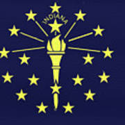 Flag Of Indiana Wall Poster