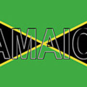 Flag Of Jamaica Word Poster
