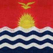 Flag Of Kiribati Texture Poster