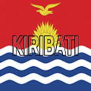 Flag Of Kiribati Word Poster