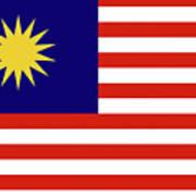 Flag Of Malaysia. Poster