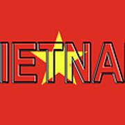 Flag Of Vietnam Word Poster