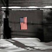 Flag On A Wentworth Barn  Poster