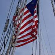 Flag Tall Ship Poster