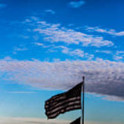 Flag With The Clouds Poster